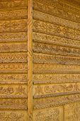 image of woodcarving  - Ornamental Carvings on the wall of monasteries in Bucovina - JPG