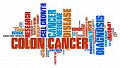 picture of rectal  - Colon cancer word collage concept - JPG