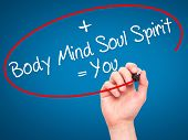 picture of soul  - Man Hand writing Body  - JPG