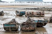 image of old boat  - old fishing boats at a fishermen - JPG