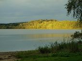 picture of bohemia  - view lake sunset southern Bohemia  - JPG