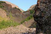 image of plateau  - The Putorana plateau the river Bucharama - JPG