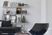 image of memento  - Personal cozy corner in a lounge interior with a modern armchair - JPG