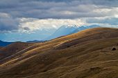 foto of apennines  - Mountain In the Gran Sasso National Park In Italy - JPG