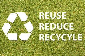 stock photo of logo  - Recycle logo with text reuse reduce recycle - JPG