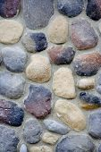 stock photo of fieldstone-wall  - close up of stone wall nice texture and detail
