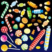 picture of goodies  - Colorful various Candies from Candy Store  - JPG