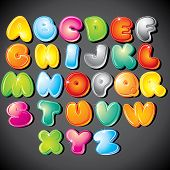 pic of letter b  - Joyful Cartoon font  - JPG