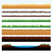 picture of field_stone  - Natural Grass and Ground Seamless borders  - JPG