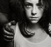 stock photo of child abuse  - Conceptual image of child abuse - JPG