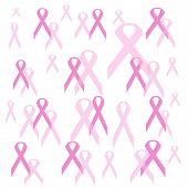 Pink Ribbon Gift Wrap poster