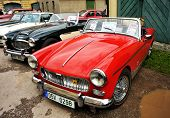 RATIBORICE, CZECH REPUBLIC - AUGUST 7: IX. Vintage car show - MG Midget 1960s. August 7, 2010 in Rat