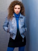 Young Woman In A Denim Jacket
