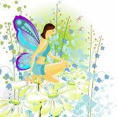 stock photo of saxy  - Butterfly in a beautiful garden - JPG