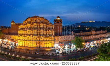 Hawa Mahal On Evening Jaipur