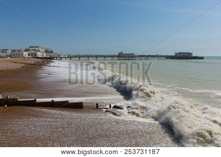 Worthing Beach And Pier England