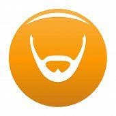 Beard And Whiskers Icon. Simple Illustration Of Beard And Whiskers Icon For Any Design Orange poster