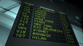 foto of pov  - Flight information board in airport terminal - JPG