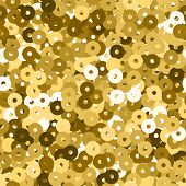 Glitter Seamless Texture. Admirable Gold Particles. Endless Pattern Made Of Sparkling Sequins. Aweso poster
