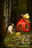 Forest House Of A Small Cat.childrens Fairytale Story poster