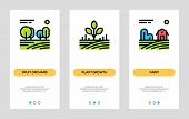 Agriculture And Farming Banners. Fruit Orchard, Plant Growth, Farm Vertical Cards. Vector Concept Fo poster