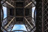 Fragment Of The Eiffel Tower Against The Sky. poster
