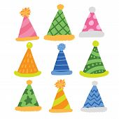 Party Hat Vector Collection Design, Hat Vector Collection Design poster