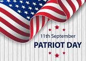 Patriot Day Usa Never Forget 9.11 Vector Poster. Patriot Day, September 11, We Will Never Forget. Wa poster