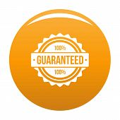 Guaranteed Logo. Simple Illustration Of Guaranteed Logo For Any Design Orange poster