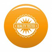 Quality Tested Logo. Simple Illustration Of Quality Tested Logo For Any Design Orange poster