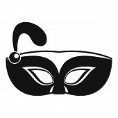 Night Mask Carnival Icon. Simple Illustration Of Night Mask Carnival Icon For Web Design Isolated On poster