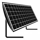 Battery Solar Panel Icon. Simple Illustration Of Battery Solar Panel Icon For Web Design Isolated On poster