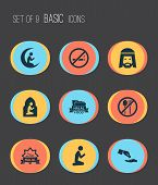 Religion Icons Set With Not Eating, Food, Prayer And Other Man Elements. Isolated  Illustration Reli poster