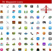 stock photo of poi  - GPS and Waypoint Icon set - JPG