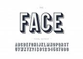 Vector Face Font Bold Style For Logo, Decoration, Party Poster, T Shirt, Book, Greeting Card, Sale B poster