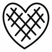 Impressionable Heart Icon. Simple Illustration Of Impressionable Heart  Icon For Web. poster