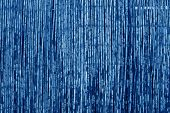 Weathered Bamboo Fence In Navy Blue Tone. Abstract Background And Texture For Design. poster