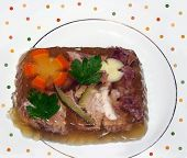 Traditional jelly food -Pork and vegetables