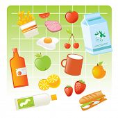 food items vector illustration