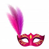 Carnival Mask Icon. Realistic Illustration Of Carnival Mask Icon For Web poster