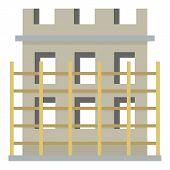 Construction Material Icon. Flat Illustration Of Construction Material Icon For Web poster