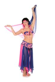 pic of belly-dance  - the bellydance woman on a white background - JPG
