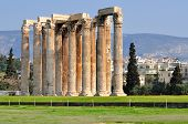 picture of olympian  - Temple of Olympian Zeus in Athens Greece  - JPG
