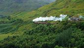 Pictorial Steam Train In Scotland