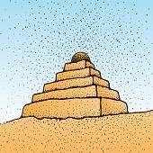 picture of ziggurat  - an illustration of a pyramid shaped building - JPG