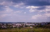 stock photo of feeling better  - A view on an Eastern European town from the hill