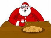 Big Fat Santa Claus Eating