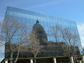pic of boise  - The Idaho State Capitol Building is reflected in the J - JPG