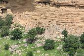 foto of dogon  - Old Dogon Houses in Dogonland - JPG