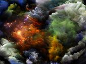 pic of grotesque  - Interplay of dreamy forms and colors on the subject of dream imagination fantasy and abstract art - JPG